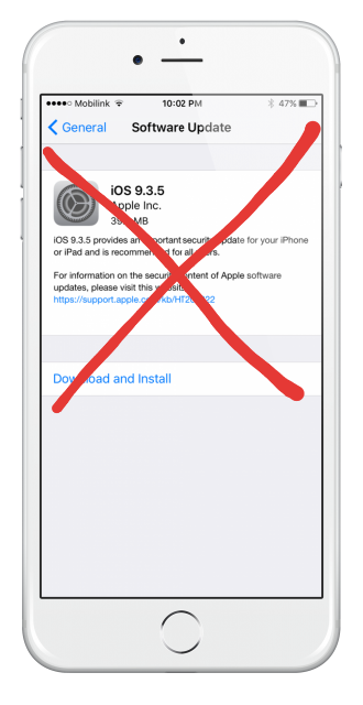 How to block iOS upgrades