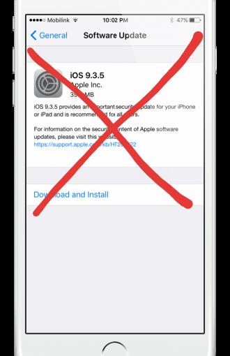 How to block iOSupgrades
