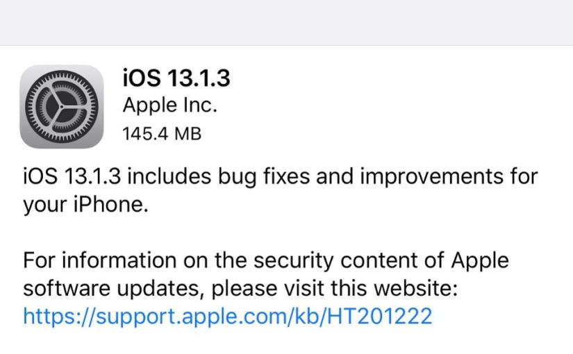 iOS 13.1.3 released to fix several bugs in iOS 13.1.2