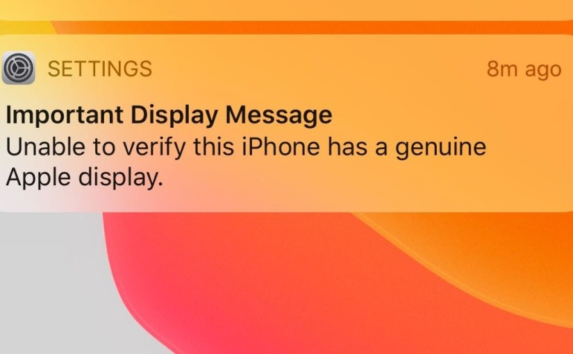 If you replace the screen of your iPhone 11 with one of a third party, Apple will nag you about it