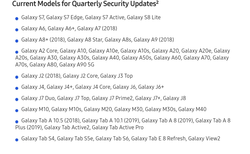 Galaxy Fold, Galaxy Xcover 4s, and Galaxy A50 to receive monthly security updates